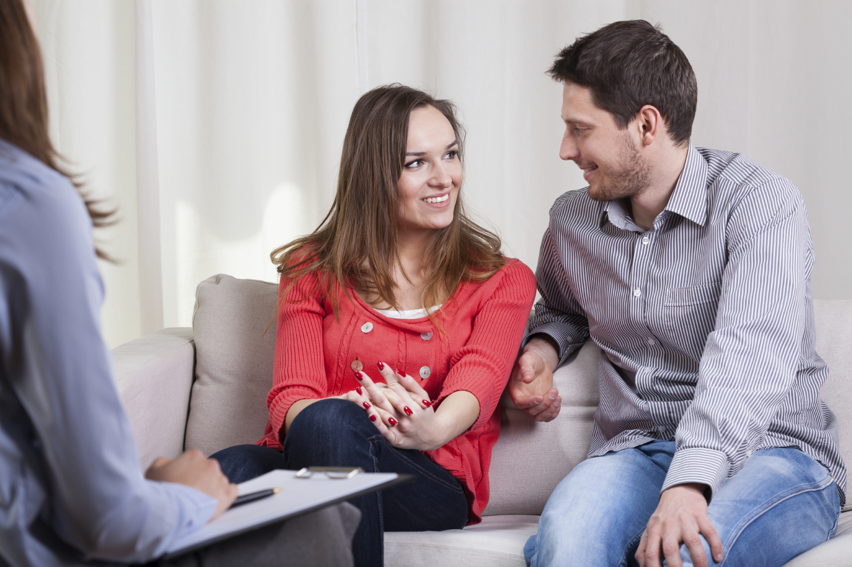 Therapist with Smiling Couple