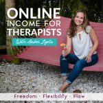 Online Income for Therapists Podcast Cover