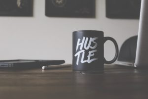 marketing hustle mug