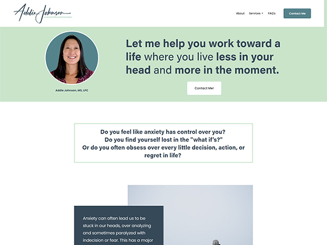 Addie Johnson, LPC - Standard Site by iTherapy