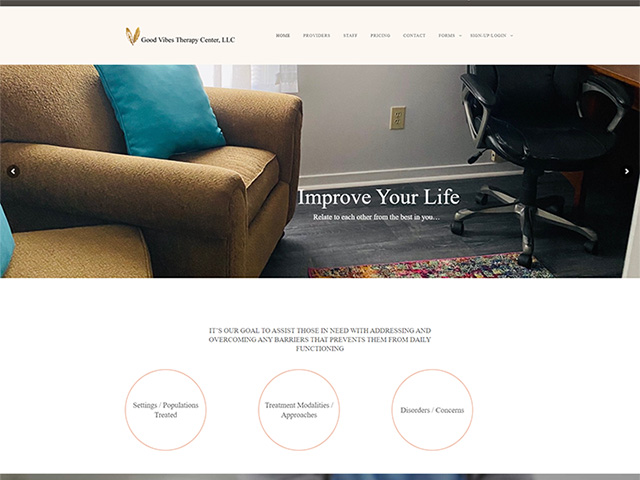 Good Vibes Therapy Center - Premium Site by iTherapy