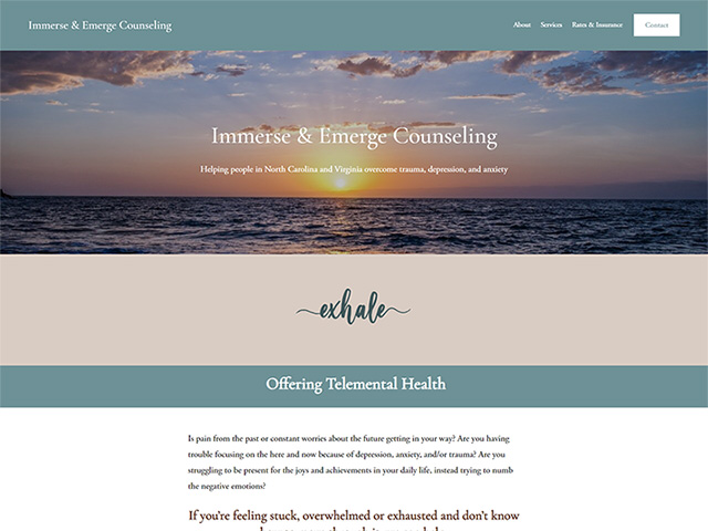 Immerse & Emerge Counseling - Standard Site by iTherapy