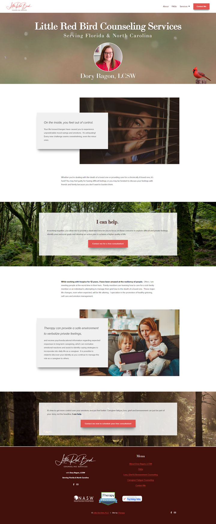 Little Red Bird Counseling Services - Standard Site by iTherapy