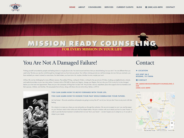Mission Ready Counseling - Standard Site by iTherapy