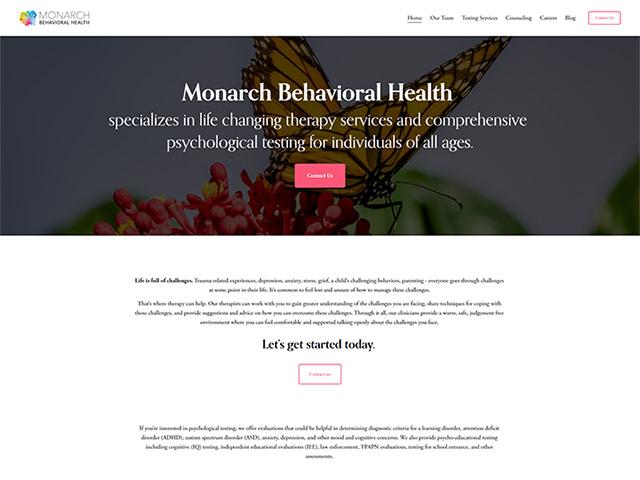 Monarch Behavioral Health - Standard Site by iTherapy