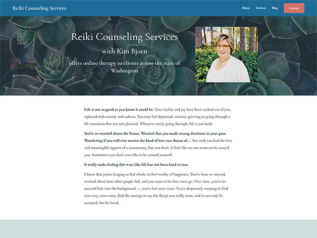 Reiki Counseling Services - Standard Site by iTherapy